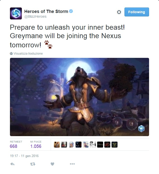 Greymane release official