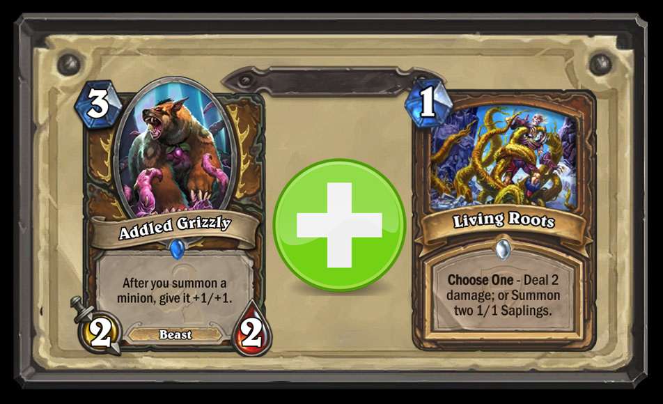 addled grizzly living root hearthstone standard combo