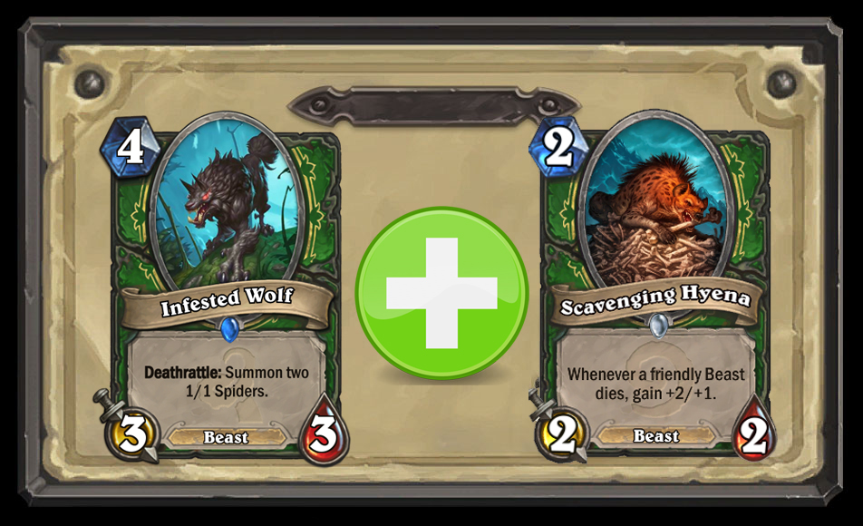 infested wolf scavenging hyena standard combo hearthstone