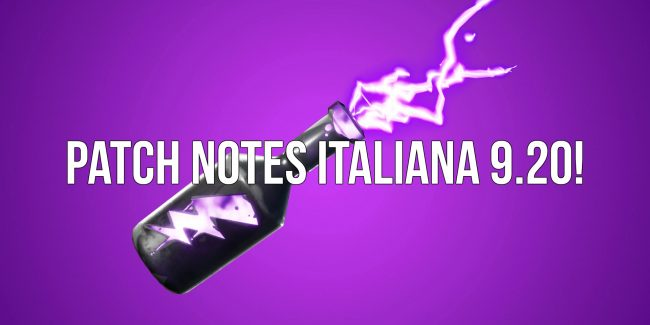 Fortnite Patch Notes Italiana 9 20 Powned It