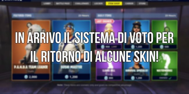 Fortnite voto shop