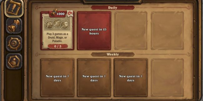 weekly hearthstone