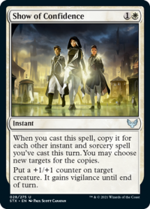 Show of Confidence in Mono White Magecraft